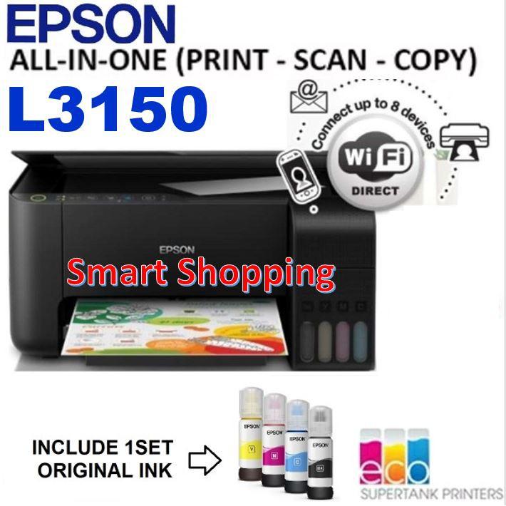 Epson EcoTank L3150 All-in-One Ink Tank Printer Print Scan Copy L 3150  L-3150 Ec