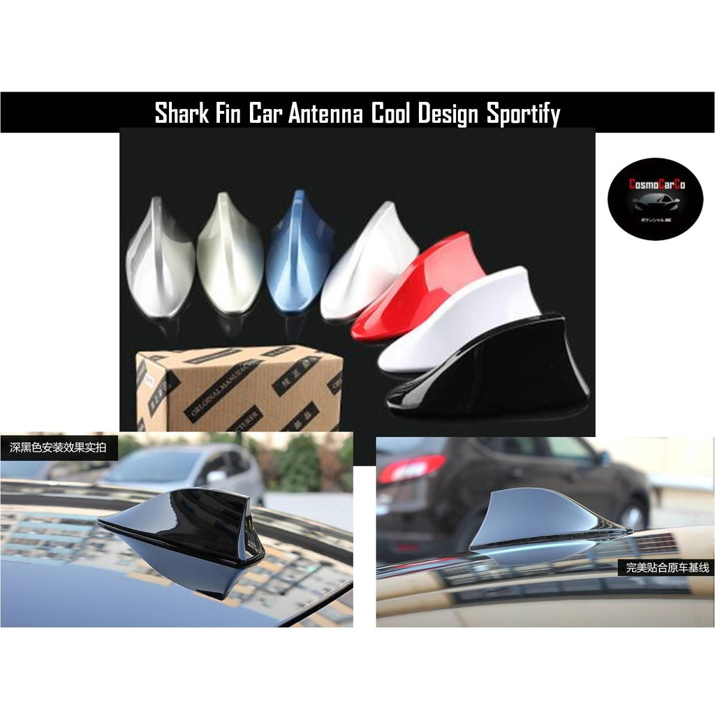 🔥 SG Seller FAST Delivery 🔥 Car Sharkfin Antenna Radio AM FM Aerial  Signal Multiple Colors Automobile Accessories