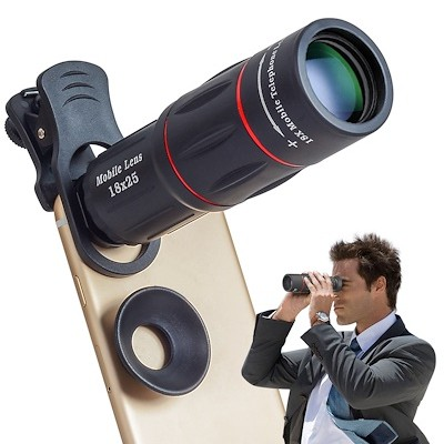 APEXEL Mobile Phone Lenses 18X Telescope TelePhoto Zoom Smartphone Camera  Lens APL-T18X