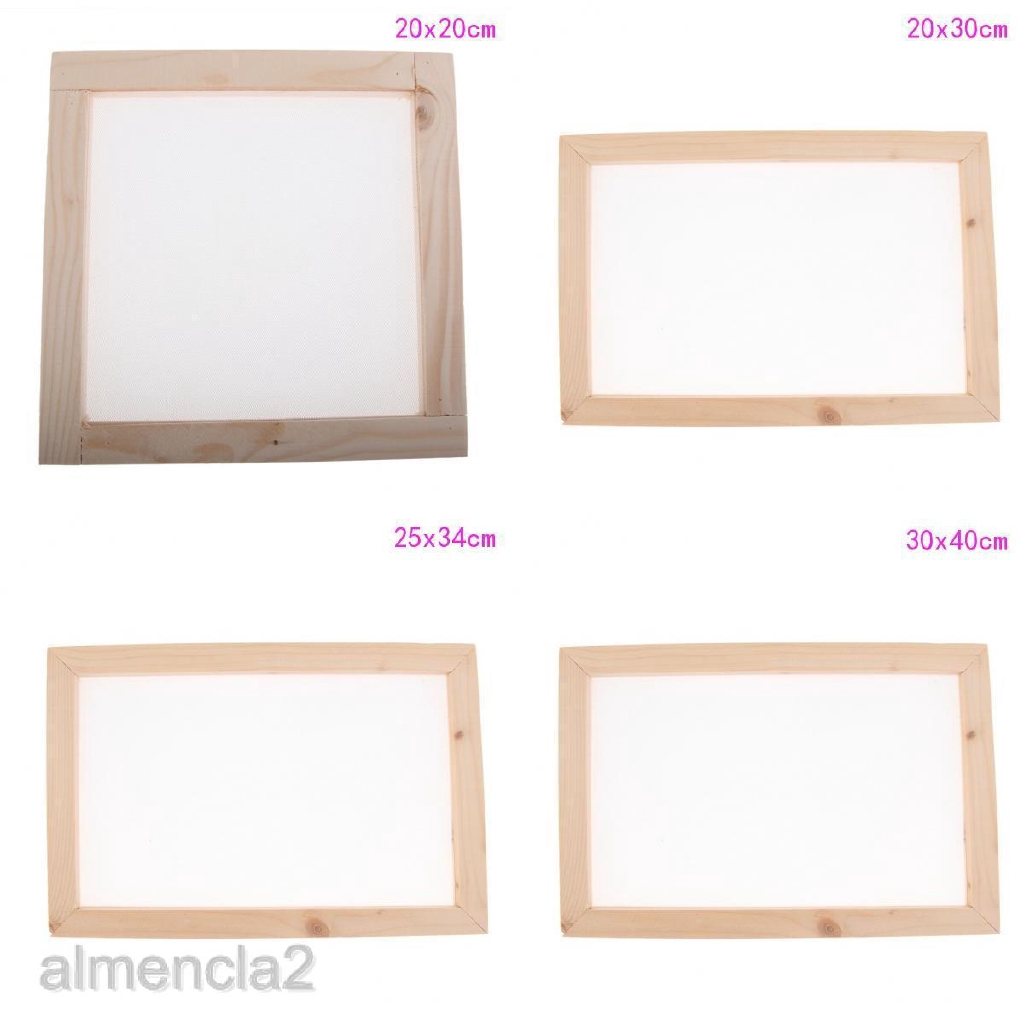 Vintage Wooden Paper Making Mould Frame Screen for Handmade Paper 20x20cm