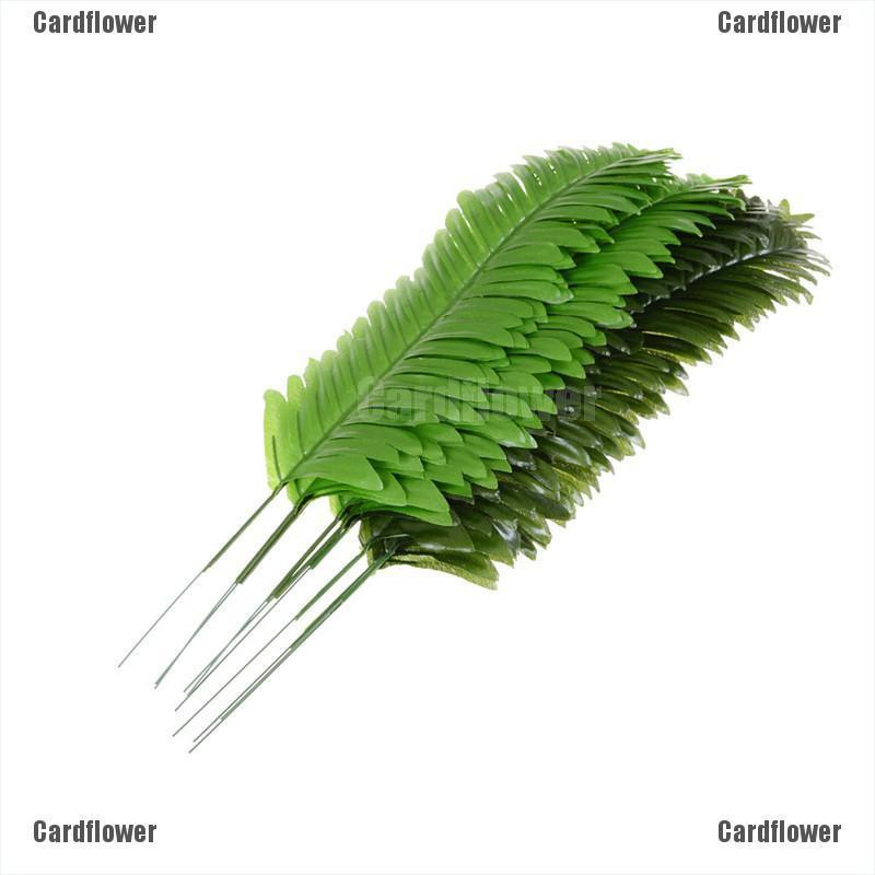 5X Lifelike Artificial Green Palm Branch Leaves Wedding Party Home Decor 38cm .