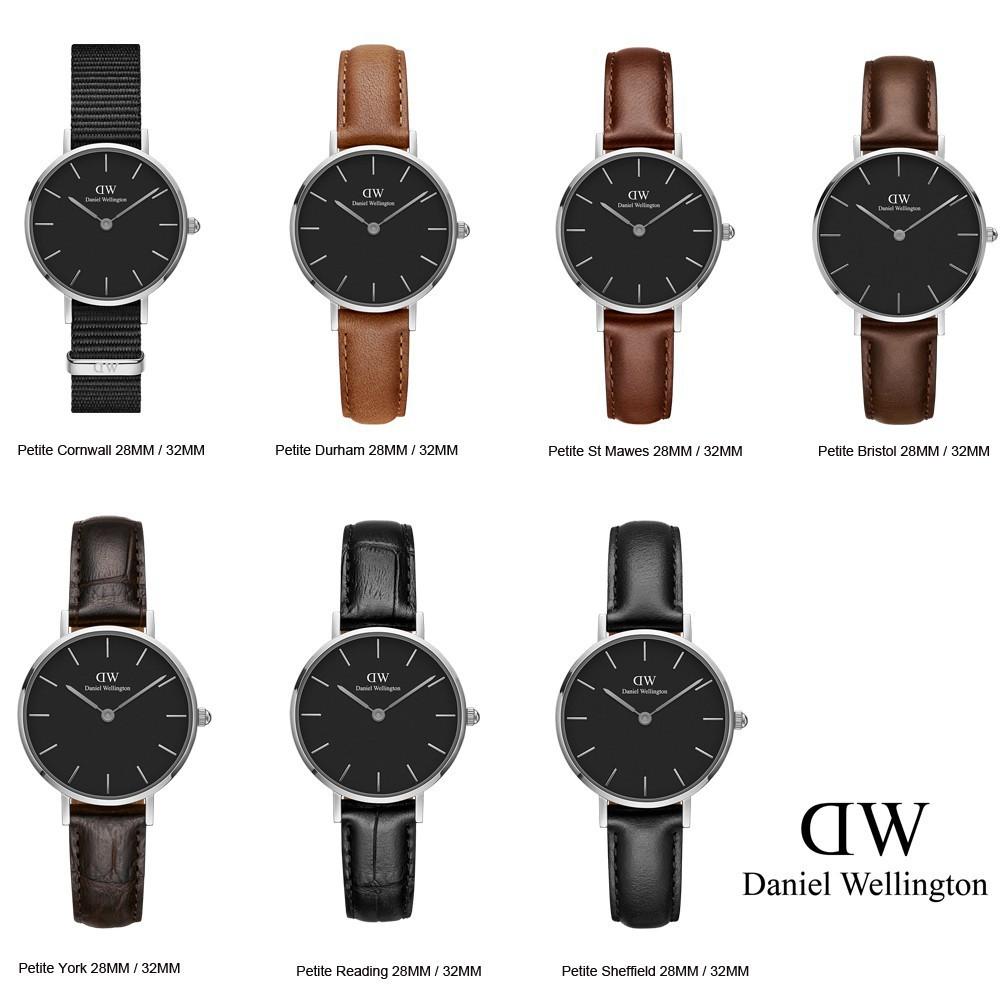 00210cdb7876 Original Daniel Wellington DW Classic Petite Silver Black Women Watch  28MM 32MM