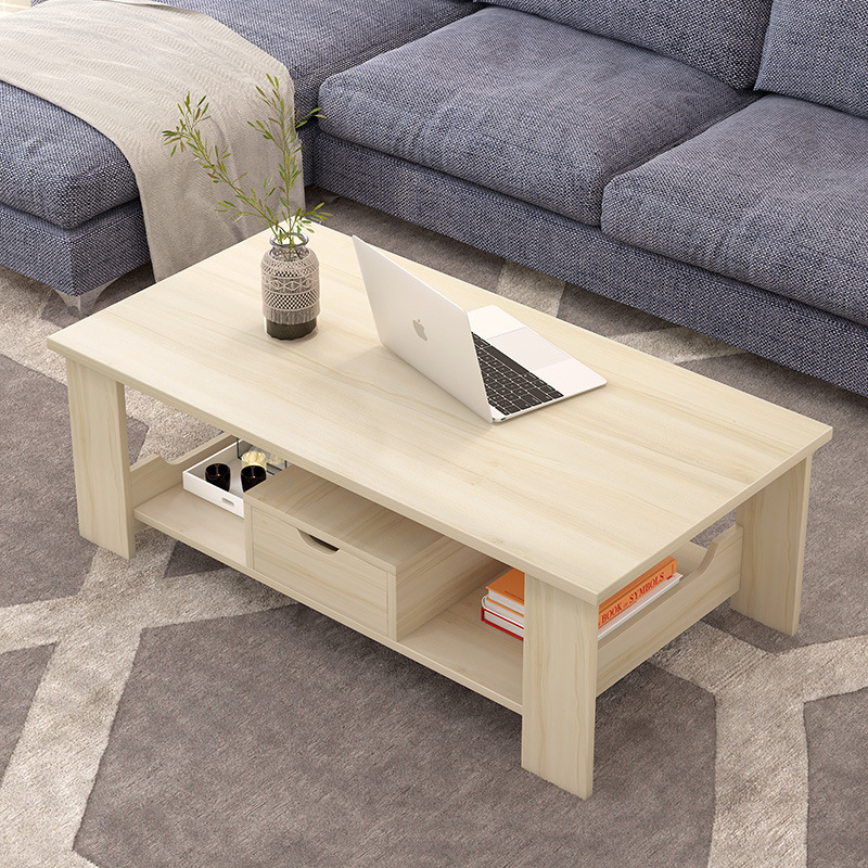 Coffee Table Simple Double Small Table Wooden Small Coffee Table Simple Modern Living Room Side Table Storage Small Apartment Coffee Table Table Shopee Singapore