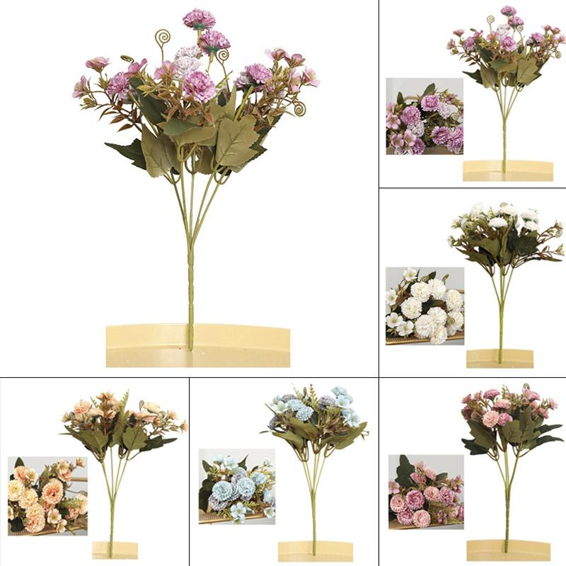 Diy Artificial Silk Carnation Bouquet Home Bedroom Decoration Fake Flower