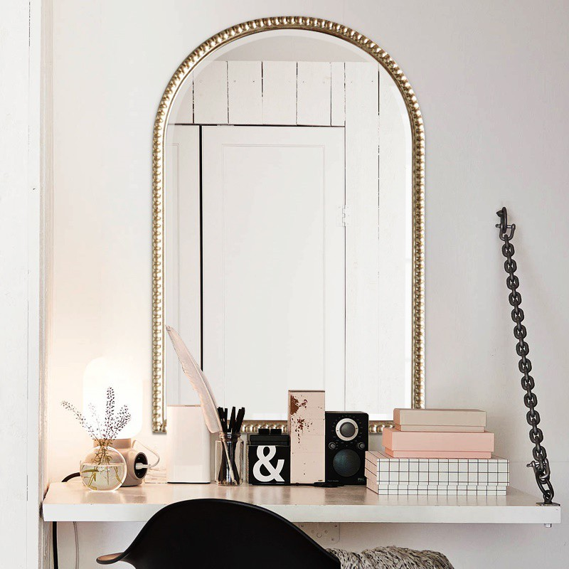 Custom Bedroom Wall Mounted Dressing Table Makeup Wood White Garden Mirror Shopee Singapore