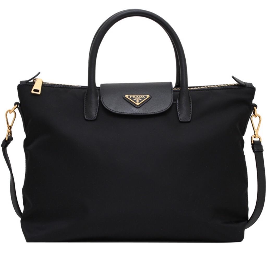 1495007cc227f9 Prada Tessuto Saffiano Tote Bag (Nero) | Shopee Singapore