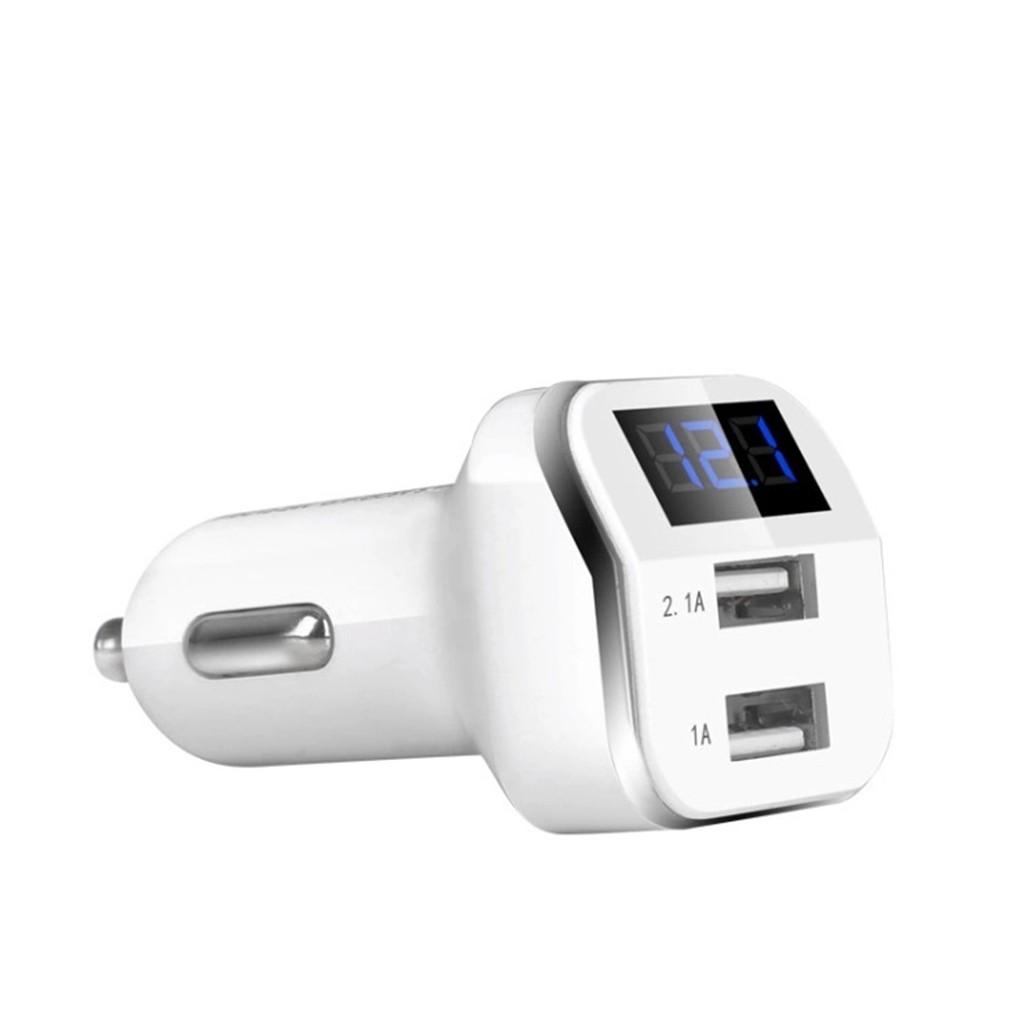 12-24V Dual USB Car Cigarette Lighter 4.2A Charger LED Digital Display Voltmeter | Shopee Singapore