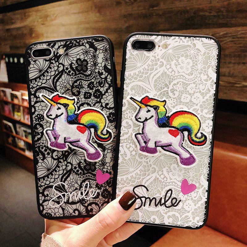 Casing vivo Y69 Y71 Y83 Y85 Y93 case Lace Embroidery Hard Phone cover