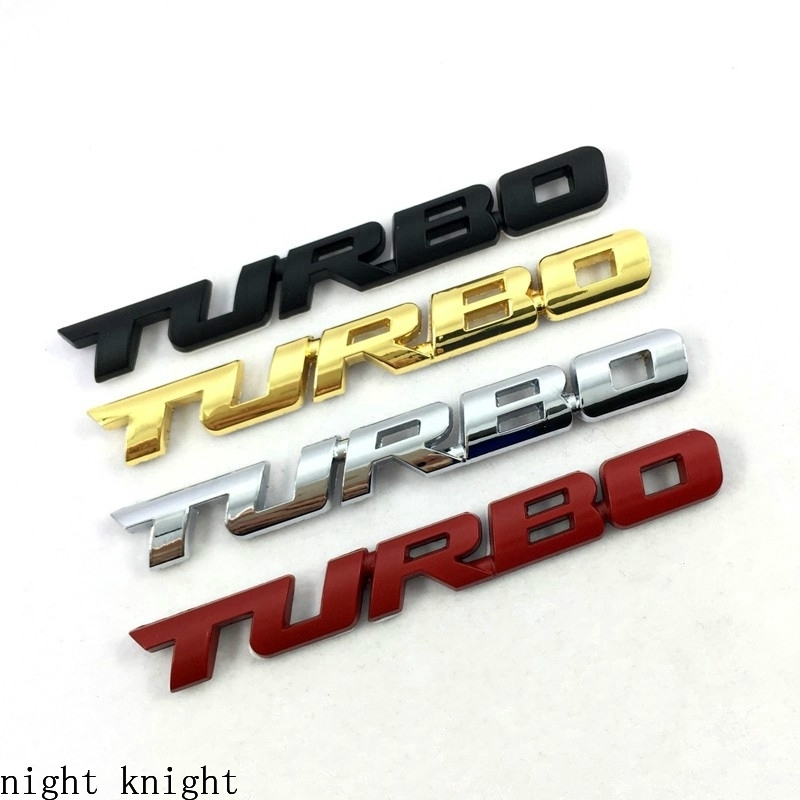 1pcs Black TURBO Letter Style Car Body Badge Emblem Sticker Decal Accessories
