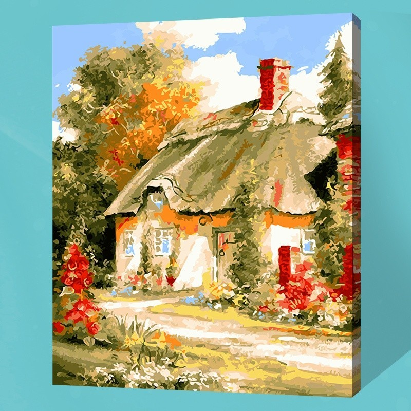 Paint By Numbers DIY Kit Rural Country View landscape 40CMx50CM Canvas