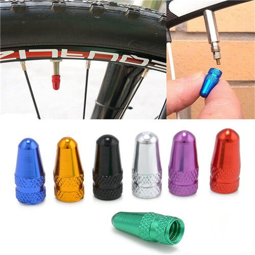 2x MTB Road Bike Bicycle Aluminium Alloy French Presta Air Valve Cap Dust Cover