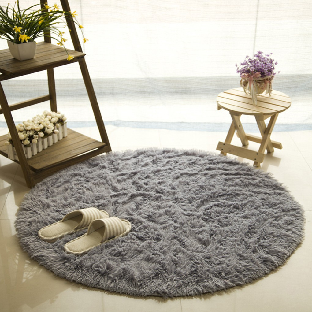 3D Succulent Flannel Round Mat Area Rug Carpet Floor Decor Anti-Skid Fluffy New