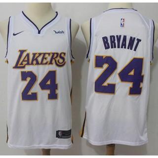 finest selection 86f96 f923e Nike Lakers #24 Kobe Bryant White NBA Swingman Association ...