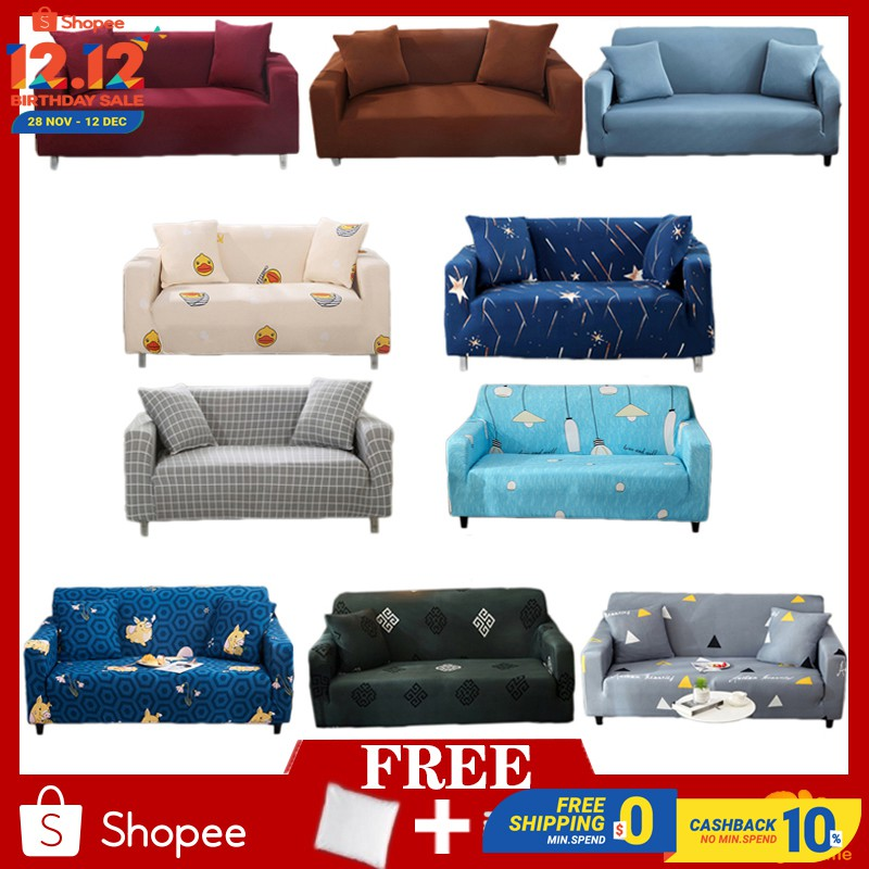 1 2 3 4 Seaters Cover Sofa Stretch Protector Couch Anti-Skid Elastic Slipcover