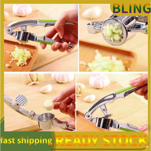New Heavy Garlic Press Hand Presser Crusher Ginger Squeezer Masher Kitchen Tool