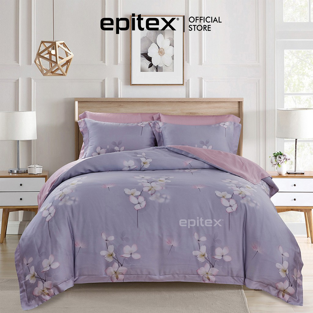 Epitex 1000TC 100% Tencel Bedset (With Quilt Cover) | Bedsheet | Fitted  Sheet | Bedding | Gift | Shopee Singapore