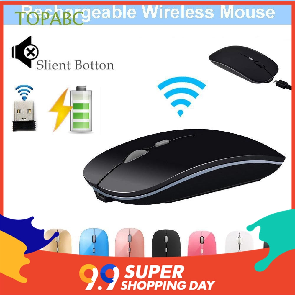 2 4GHz Button Ultra Thin Super Slim Wireless Mouse For Computer PC Tablet