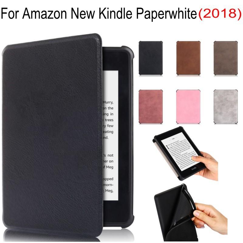 Ultra Slim Retro Smart Magnetic TPU Case For Amazon Kindle Paperwhite 4 2018