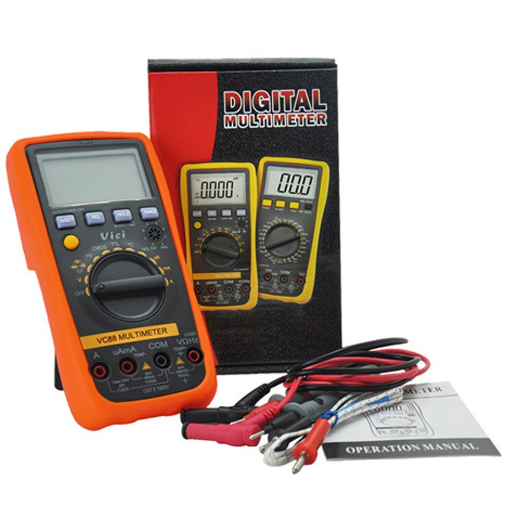 Vici VC88 Digital Multimeter w/CMOS TTL Logic Test DC/AC