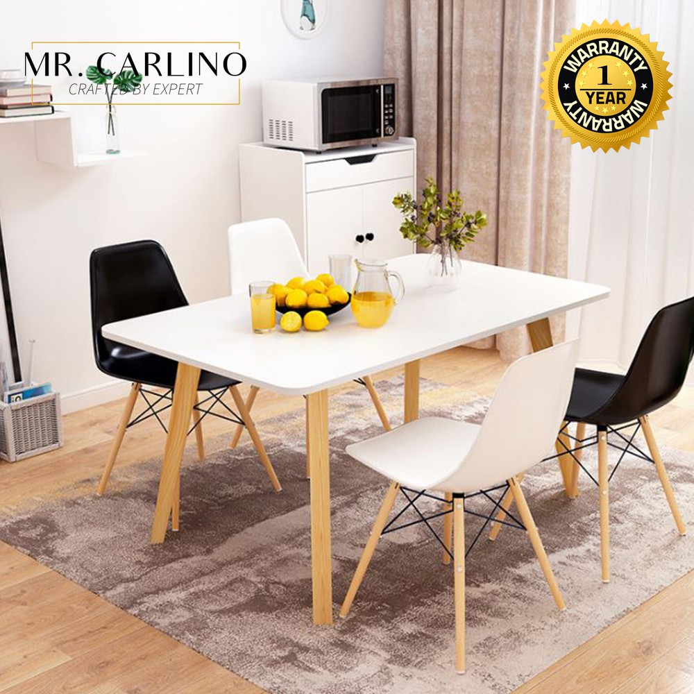 Dining Table With 4 Eames Chairs