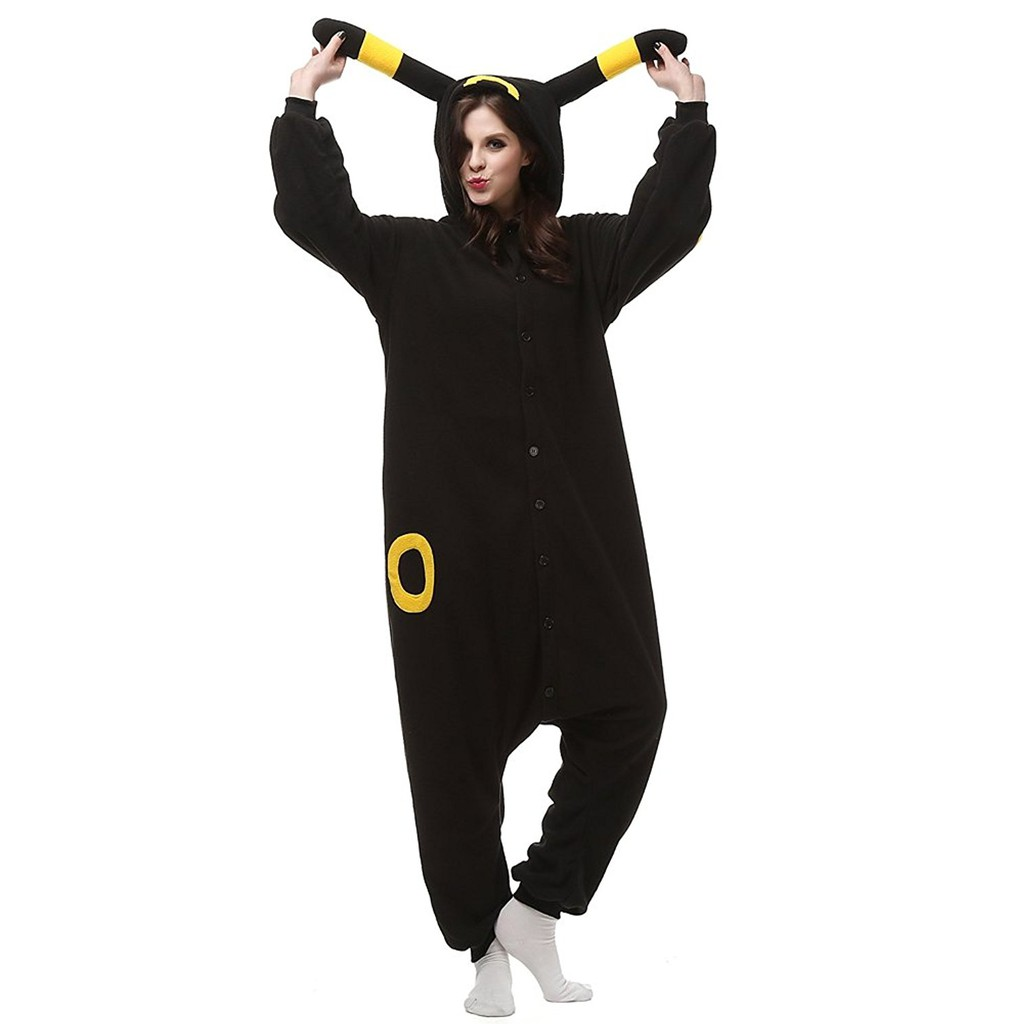 Christmas Women Adult Pajamas Umbreon Kigurumi Animal Cosplay Costume Sleepwear
