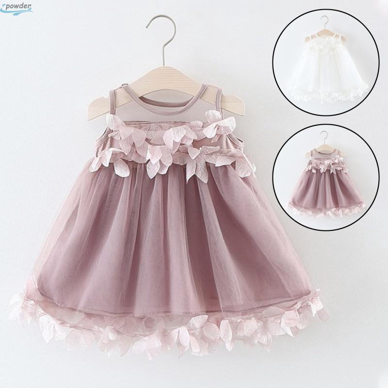 AMSKY Toddler Infant Baby Girls Floral Long Sleeve Brithday Princess Dresses Tulle Dresses Mini Skirts