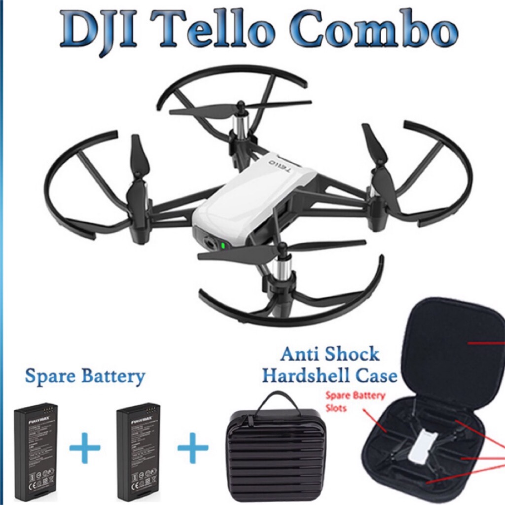 * FREE CARRYING CASE + 1 SPARE BATTERY* DJI Tello Selfie Drone