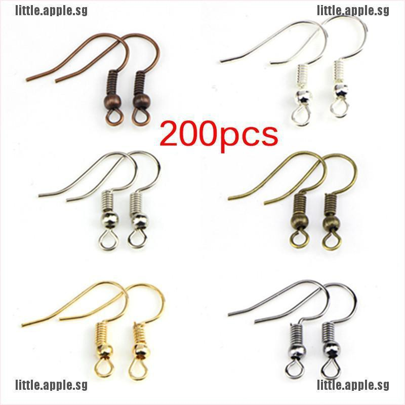 DIY Jewelry Findings Accessorie 10x Sterling Silver Earrings Hook Coil Ear Wires