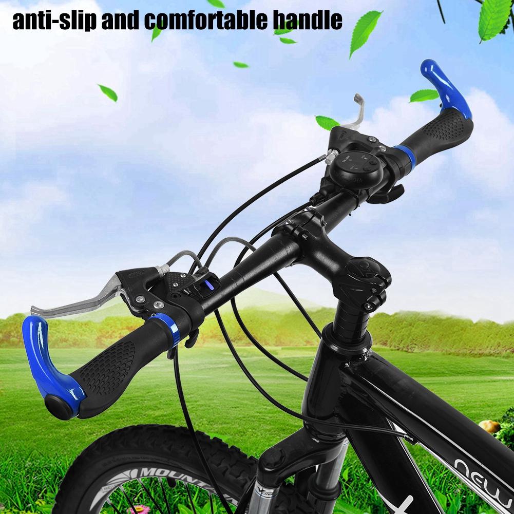 Ergonomic MTB Mountain Bike Bicycle Handlebar Rubber Grips Cycling Lock-On Ends