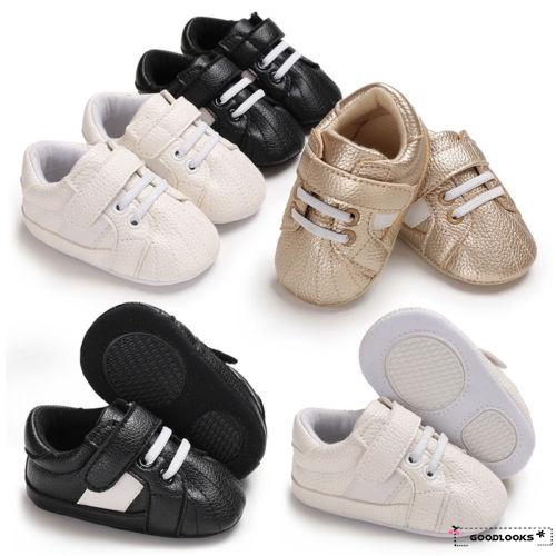 Hgl Au 0 18 Months Baby Shoes Boy Girl Toddler Kids Soft Sole Pu Leather Crib Shopee Singapore