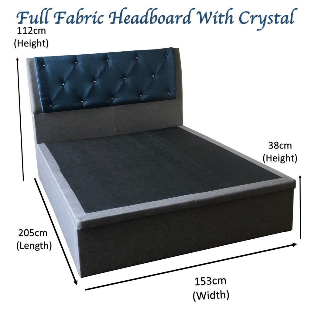 Image result for Milton Fabric Storage Bed  shopee.sg
