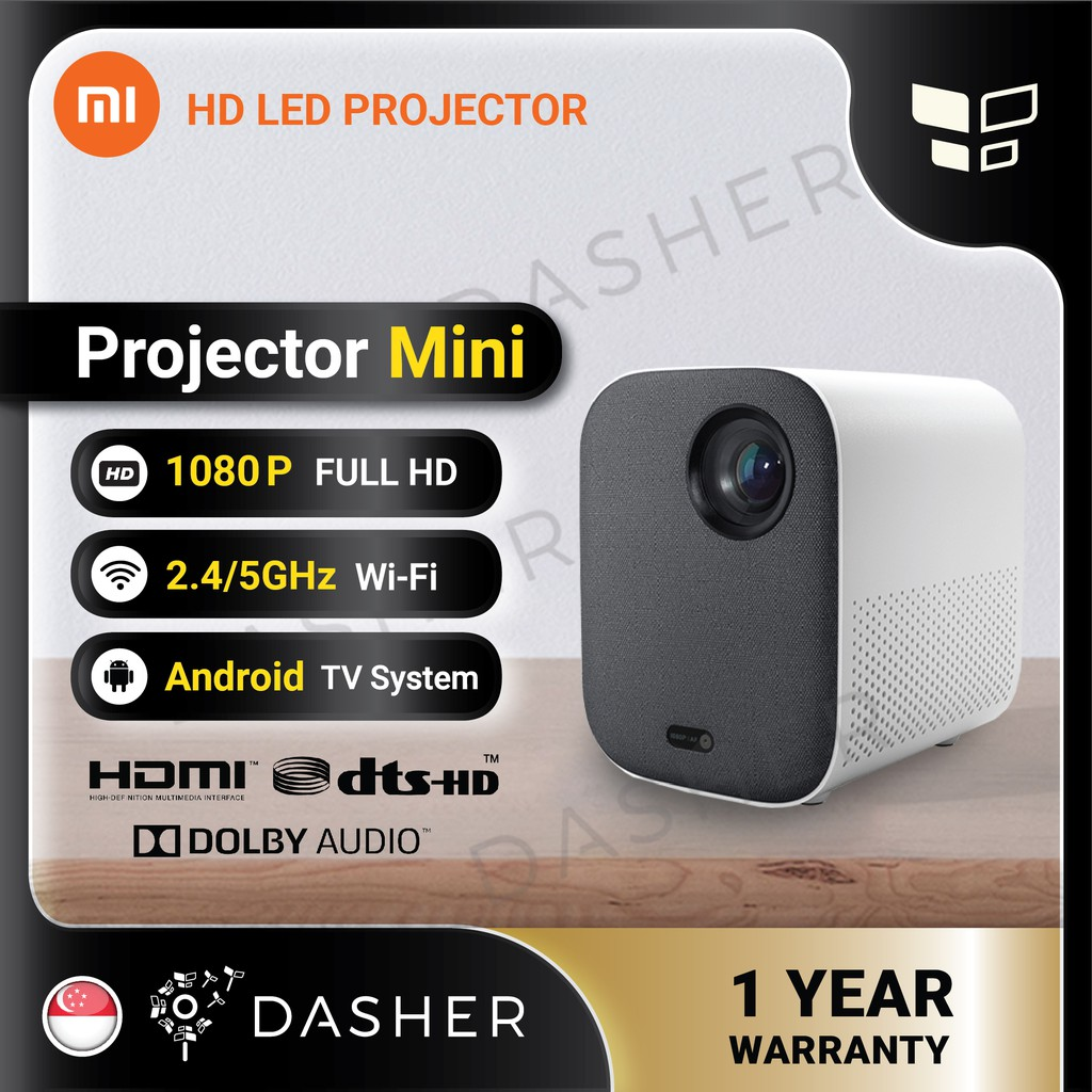 NEW] Mi Smart Android Youth Edition Portable Mini Projector M055MGN Global  Version 500 ANSI Lumens 1080P Full HD   Shopee Singapore