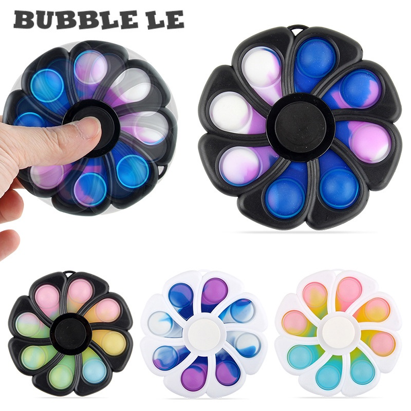 New Bubble Music Press Board Fingertip Stress Relief Toy Eight-leaf Flower-shaped Finger Top Decompression Toy