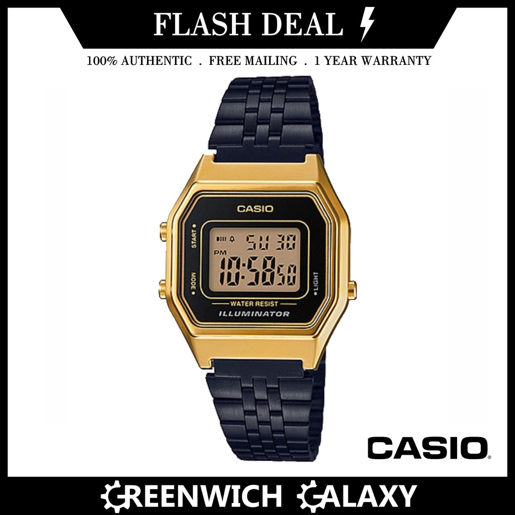 Casio Authentic Vintage Gold Watch (A168WECM-5D)  d6d4071eaf