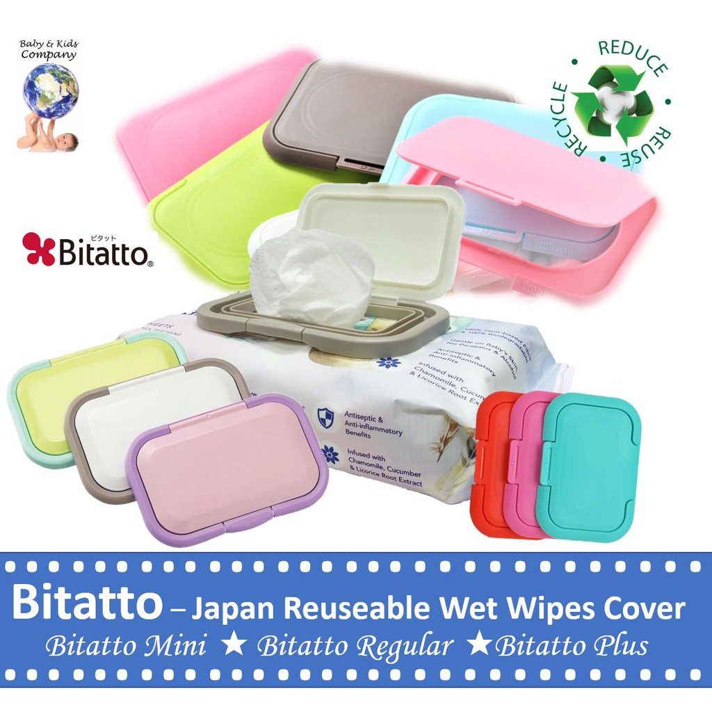 Bitatto Japan ★ Reusable Wet Wipes Cover ★ Mini ★ Regular ★ Plus