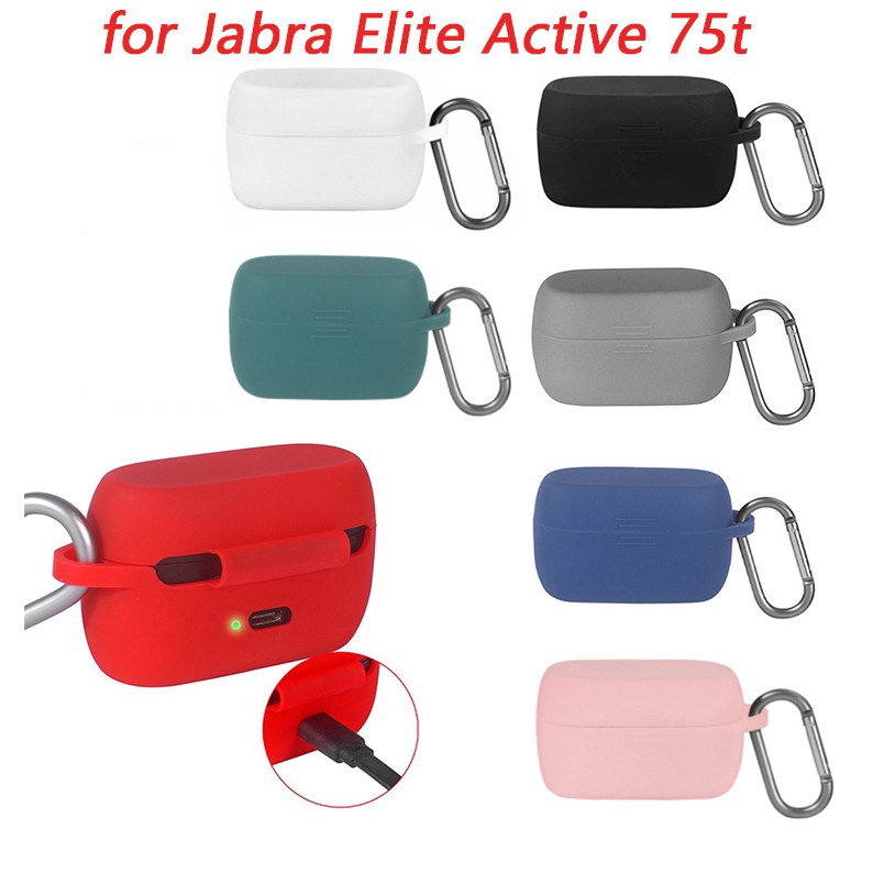 Soft Silicone Shock Absorbing Anti Scratch Earphone Protective Headphones Storage Case For Jabra Elite Active 75t Headset Shopee Singapore