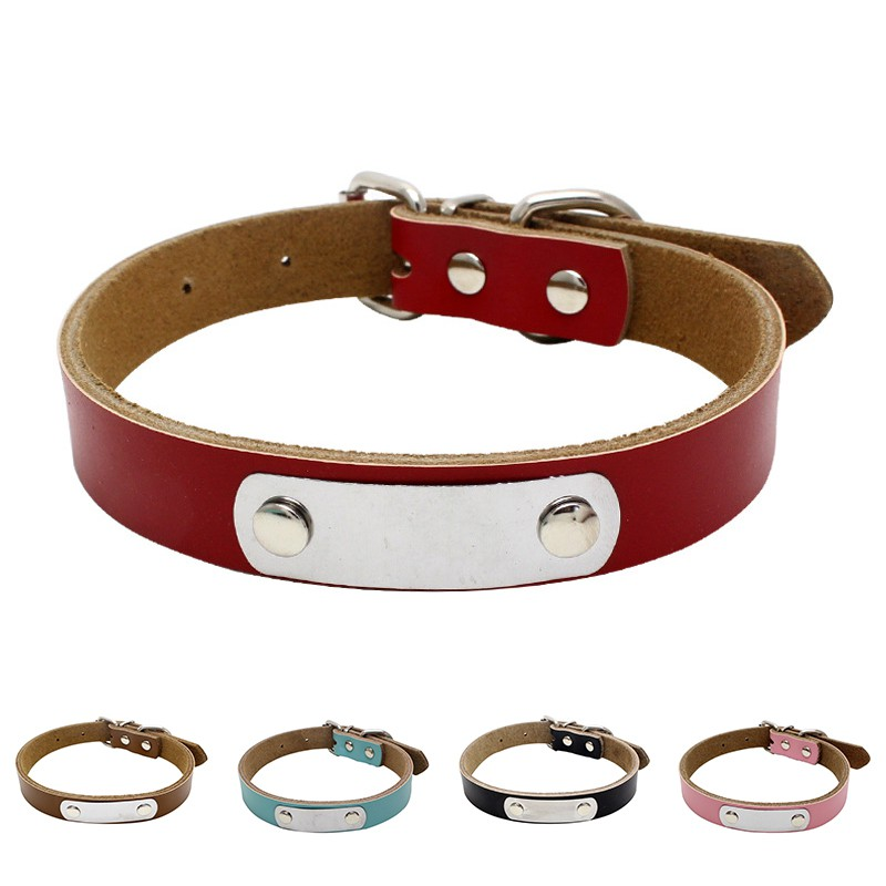 Genuine Strap Leather Cow Puppy Adjustable Soft Chock Cat Neck Dog Collar Pet   Shopee Singapore