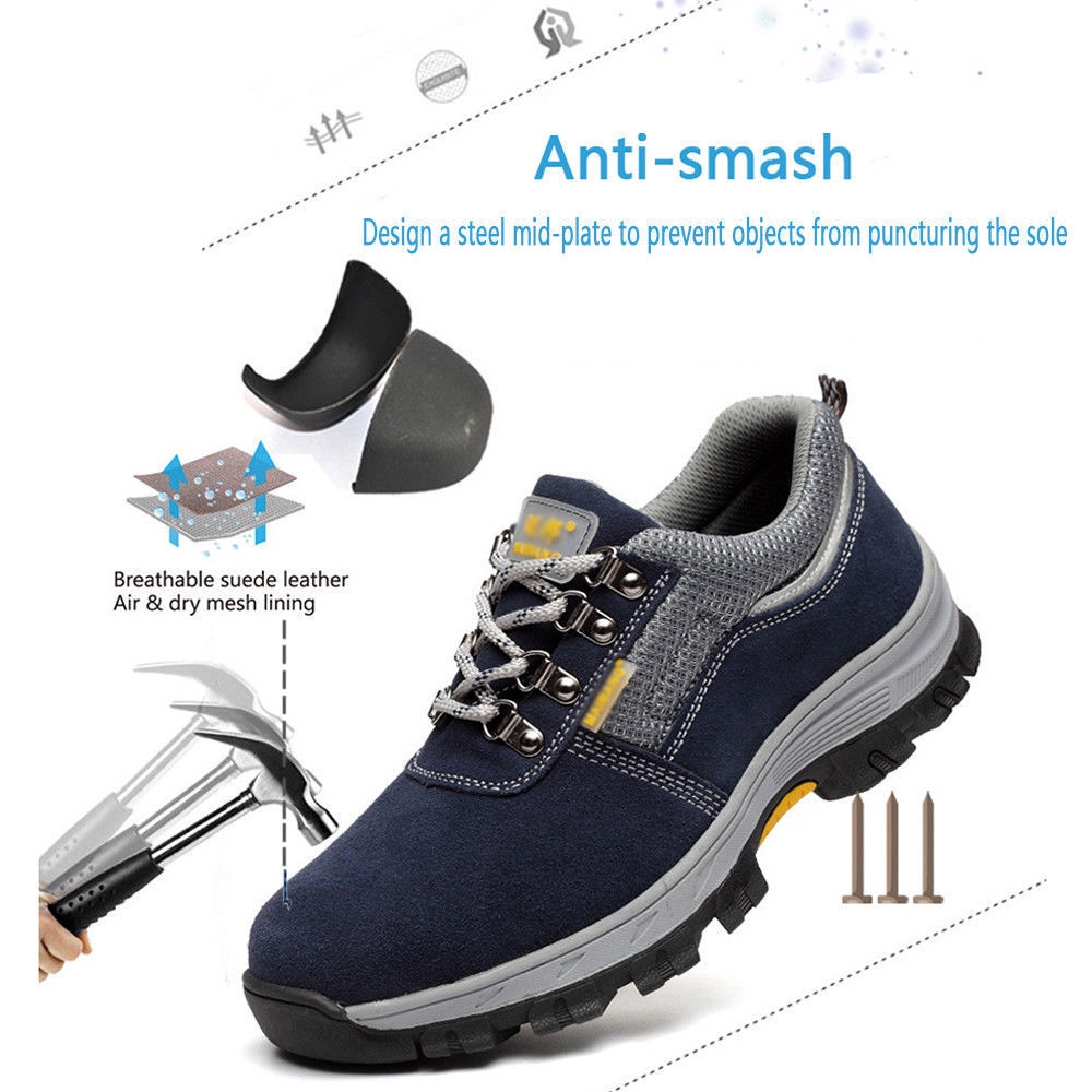 Men/'s Safety Shoes Steel Toe Work Boots Hiking Climbing Outdoor Sports Shoes