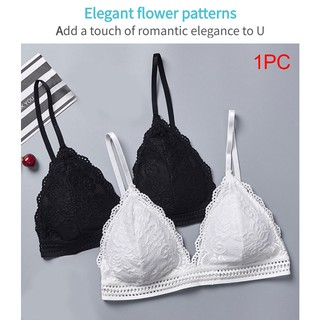 Details about  /Fashion Women/'s Padded Push Up Lace Triangle Bralette Bra Lingerie Underwear