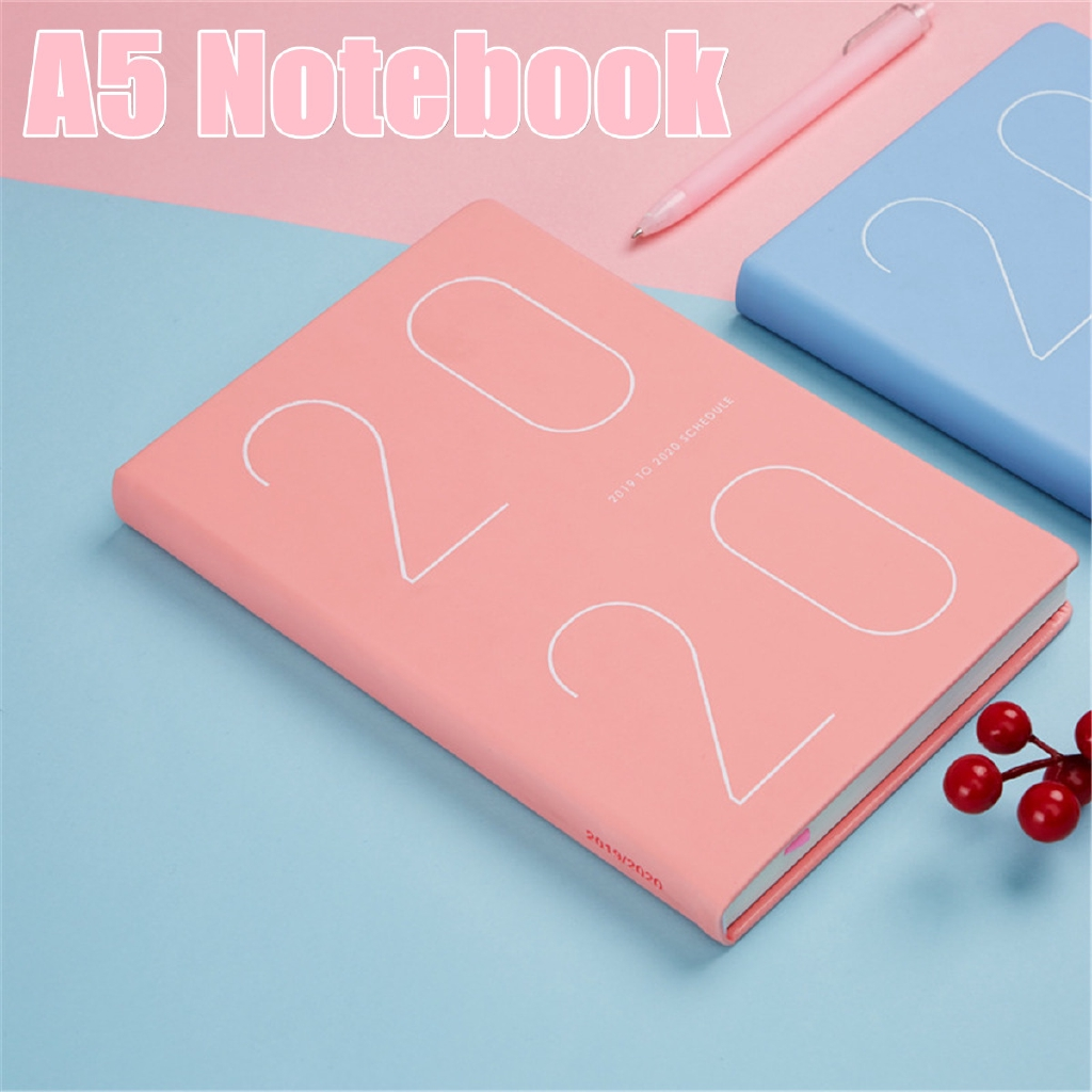 24b9c88975eb 2019-2020 Weekly Monthly Journal Planner Diary Scheduler Study A5 Note book  Gift