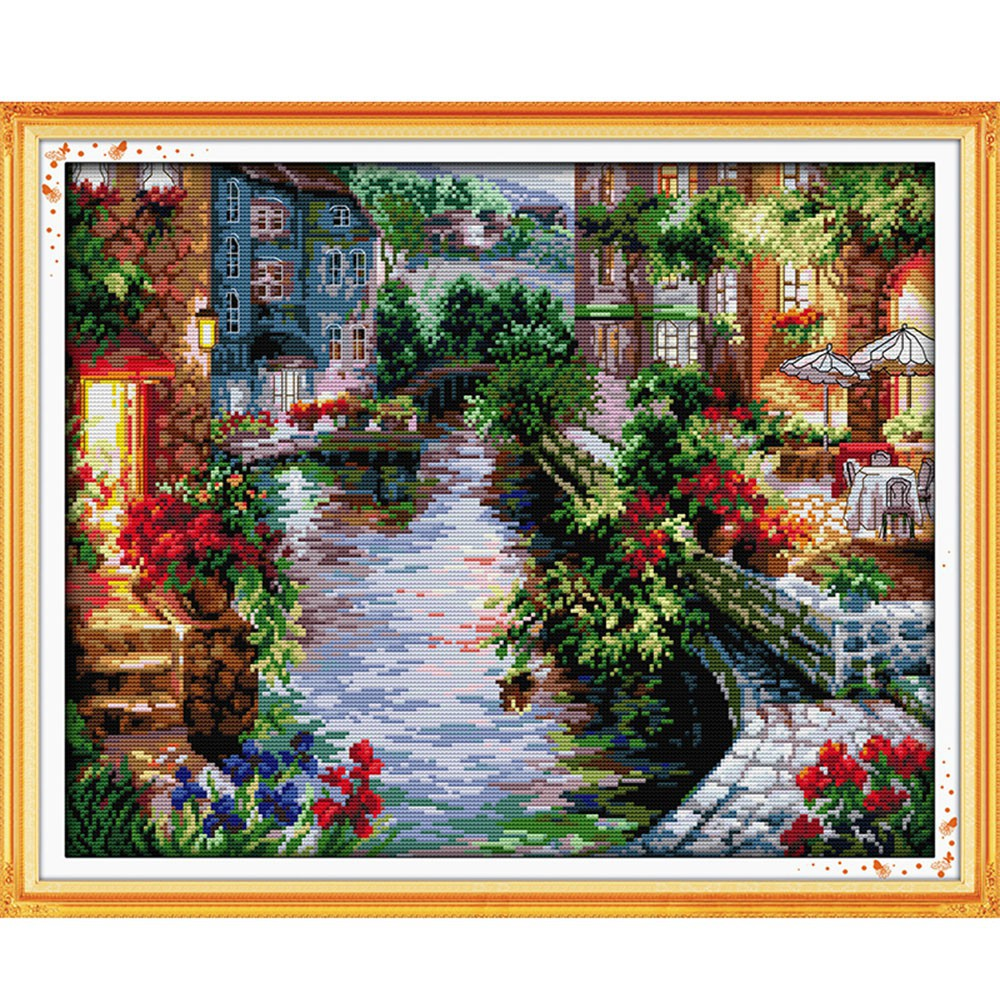3 Embroidery Cross Set 11ct 14ct Printed On Canvas Cross Stitch Kit Chinese Counted Cross Stitch Pattern Painting Soft And Antislippery Money Tree