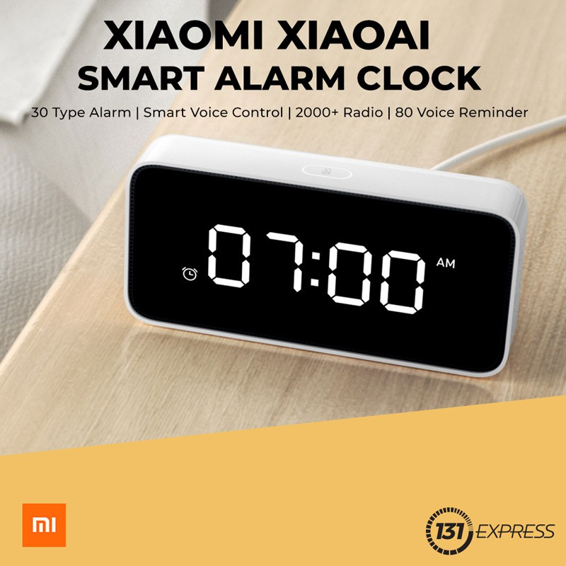 Smart Alarm Clock >> Xiaomi Xiaoai Smart Alarm Clock Shopee Singapore