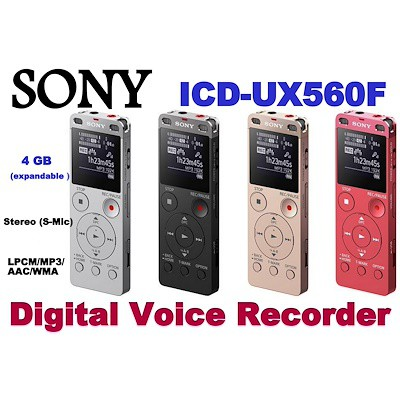 Sony ICD-PX470 Digital Voice Recorder 4GB Expandable microSD Slot | Shopee Singapore