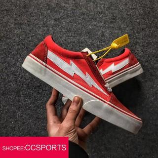 e75c8b5256 BEST❤ Original☞ real picture vans REVENGE X STORM Old Skool red skateboard  shoe