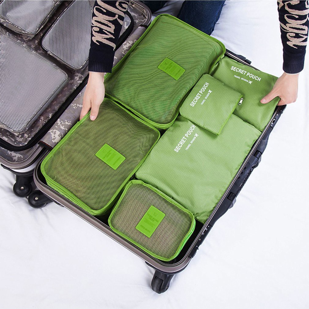 6x Waterproof Travel Storage Bags Clothes Packing Cube Luggage Organizer Pouch