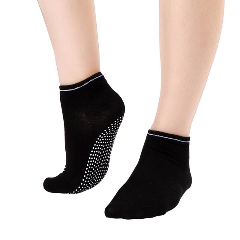 Yoga Socks Non Slip Pilates Massage 5 Toe Socks with Grip Exercise Gym Purple