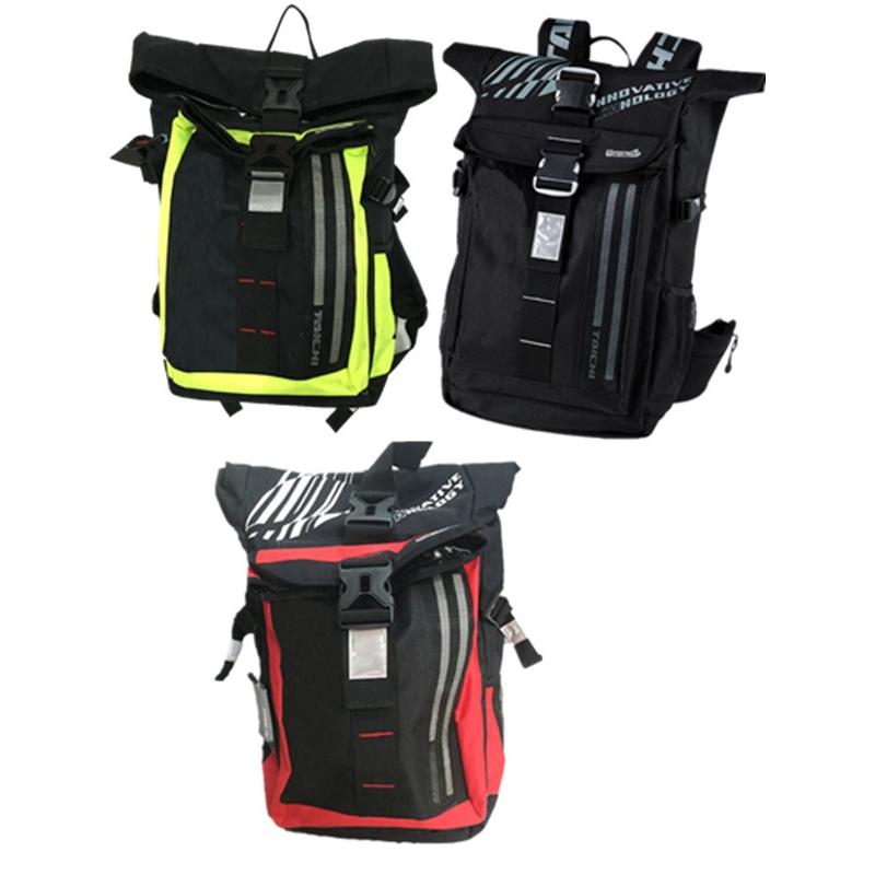 Bag backpack Men Waterproof RS Taichi RSB272 LED light Motorcycle Backpack