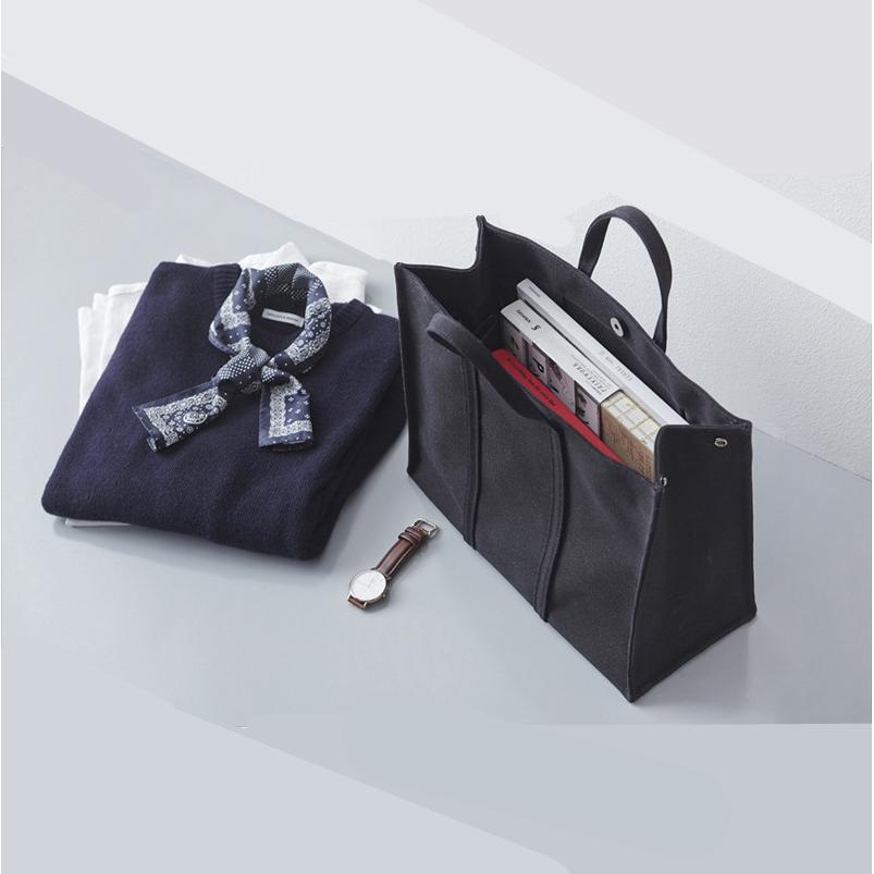 f6a6e50e0f73 ﹍Custom LOGO Korean simple business briefcase women's canvas handbag bag  casua