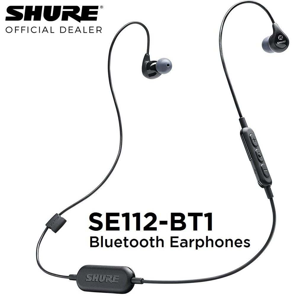 01d3bf73c28 Shure SE112-BT1 Wireless Bluetooth In-Ear Earphones w/ Microphone | Shopee  Singapore