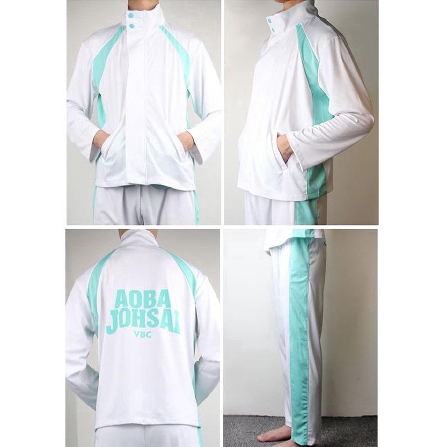 Stock Japan Anime Haikyuu Aoba Johsai High School Volley Ball Team Sportswear Cosplay Costume Sport Uniform Set Hot Shopee Singapore